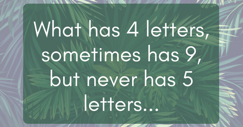 almost nobody can solve this tough riddle. can you? click the link