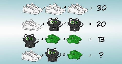logic test solve the math problem