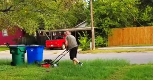 28 Years Later, A Man Still Mows His Ex-Wife's Lawn