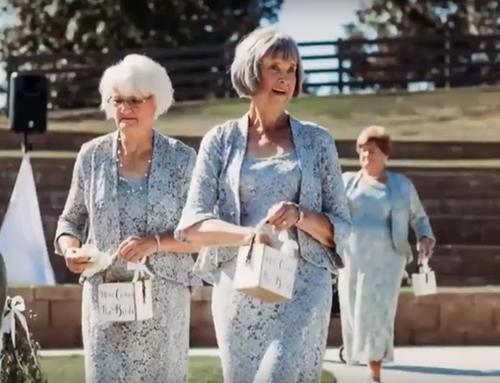 Image result for Couple gets four grandmothers as flower girls for wedding, photos go viral