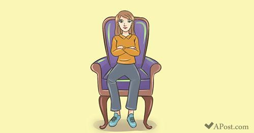 Pozycja, w której najczęściej siedzisz może zdradzać cechy Twojej osobowości