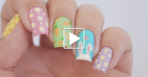 Adorable Easter Manicure - It's Easier Than It Looks!