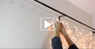She Hangs Christmas Lights Behind The Bed. When The Camera Pans Out? STUNNING!