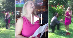 Soldier Returns Home Early To Surprise His Girlfriend With A Scavenger Hunt Proposal!