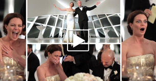 Emotional Moment As Bride's Grandfather Gives Wedding Toast Over The Phone.