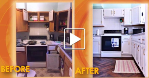 [Video] Mom Completely Transforms Her Old Kitchen On A Shoestring Budget