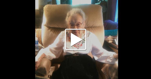 An Elderly Woman Records Herself As She Gives A Message To The World