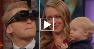 Blind Man Loses It When He Gets To See His Wife And Son For The First Time