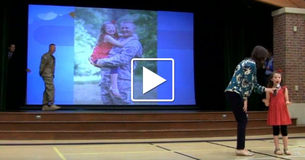 Little Girl Hasn't Seen Her Army Daddy In Years, Has No Clue He's Standing Right Behind Her