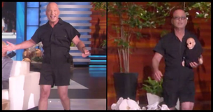 Howie Mandel Puts The New Men's Romper Trend To The Test While Visiting The Ellen Show