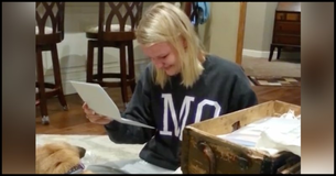 This Girl Receives An Old Box For Her Birthday...When She Opens It She Is Lost For Words!