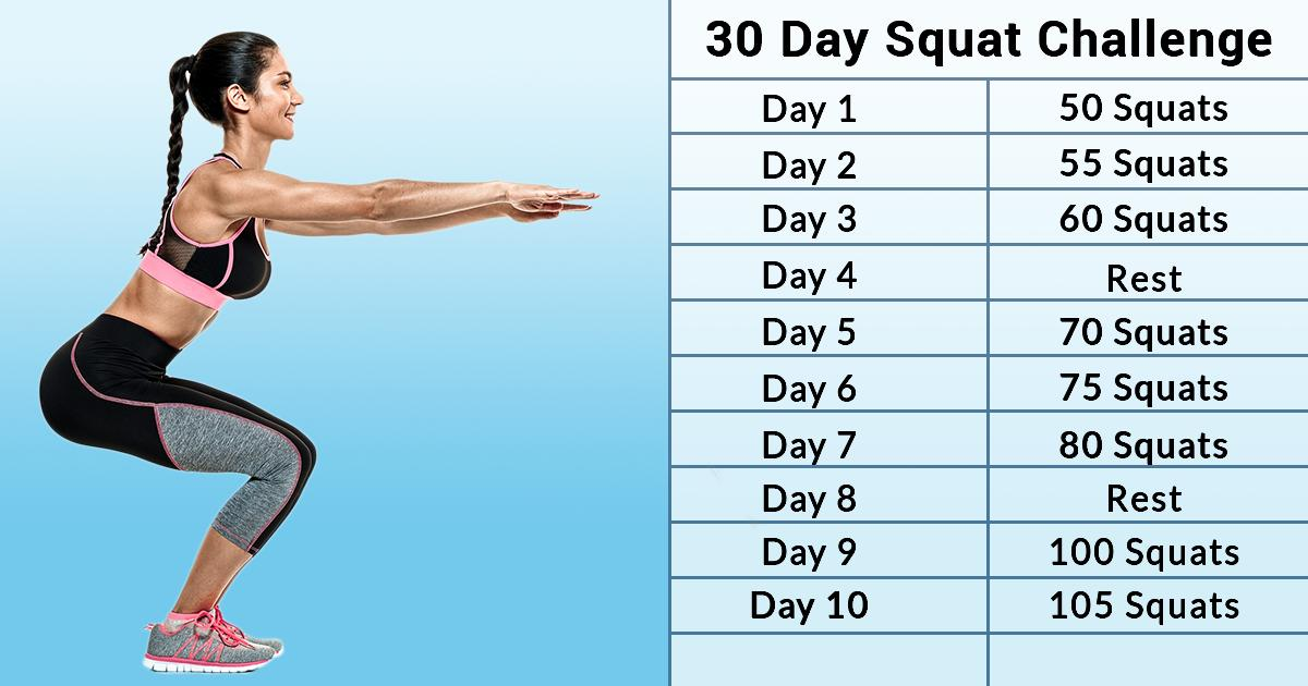 Sculpt Your Dream Butt With This Simple 30-Day Squat Challenge