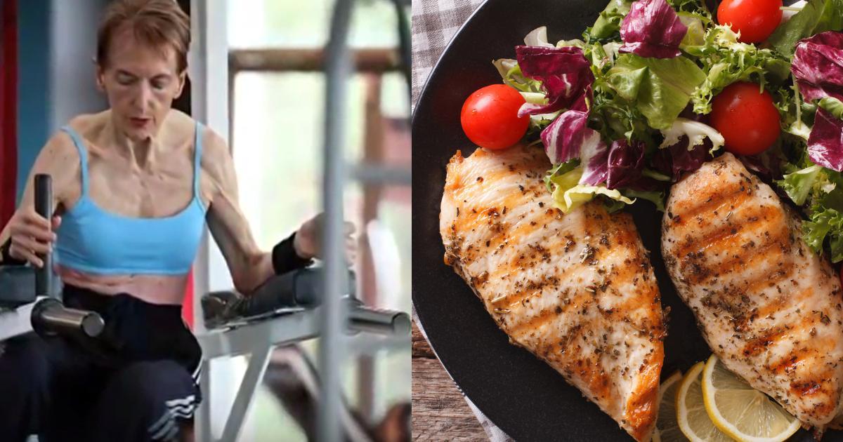 75-Year-Old Bodybuilder Grandma Reveals Nude Food Diet