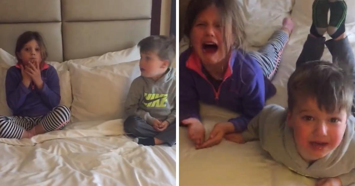 Kids Have Absolute Melt Down When They Realize They're Going To Disney, Not Grandma's House