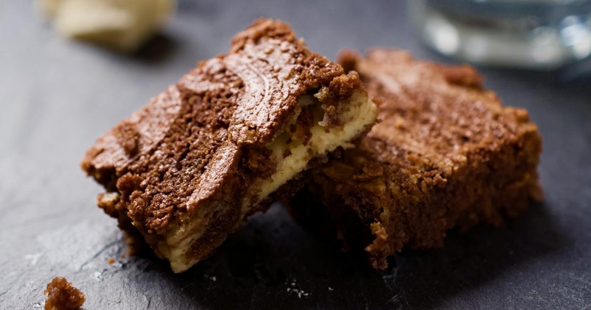 Super Saftiger Marmorkuchen Mit Nuss Nougat Creme