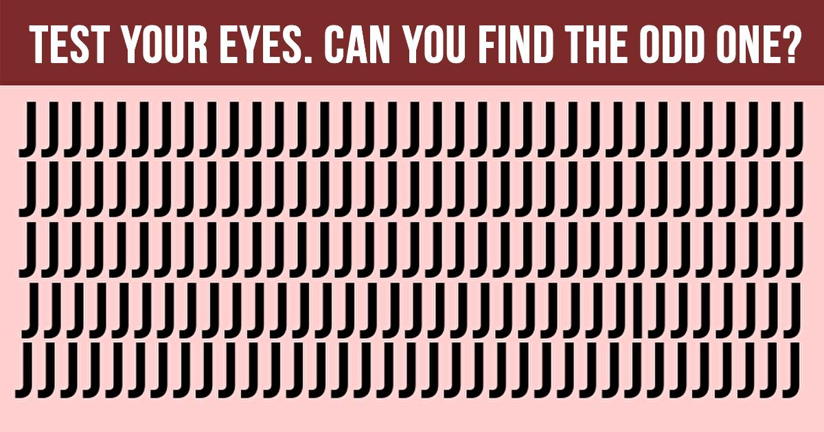 Eye Test: Can You Find The Odd One In All Our Tests Within 30 second?