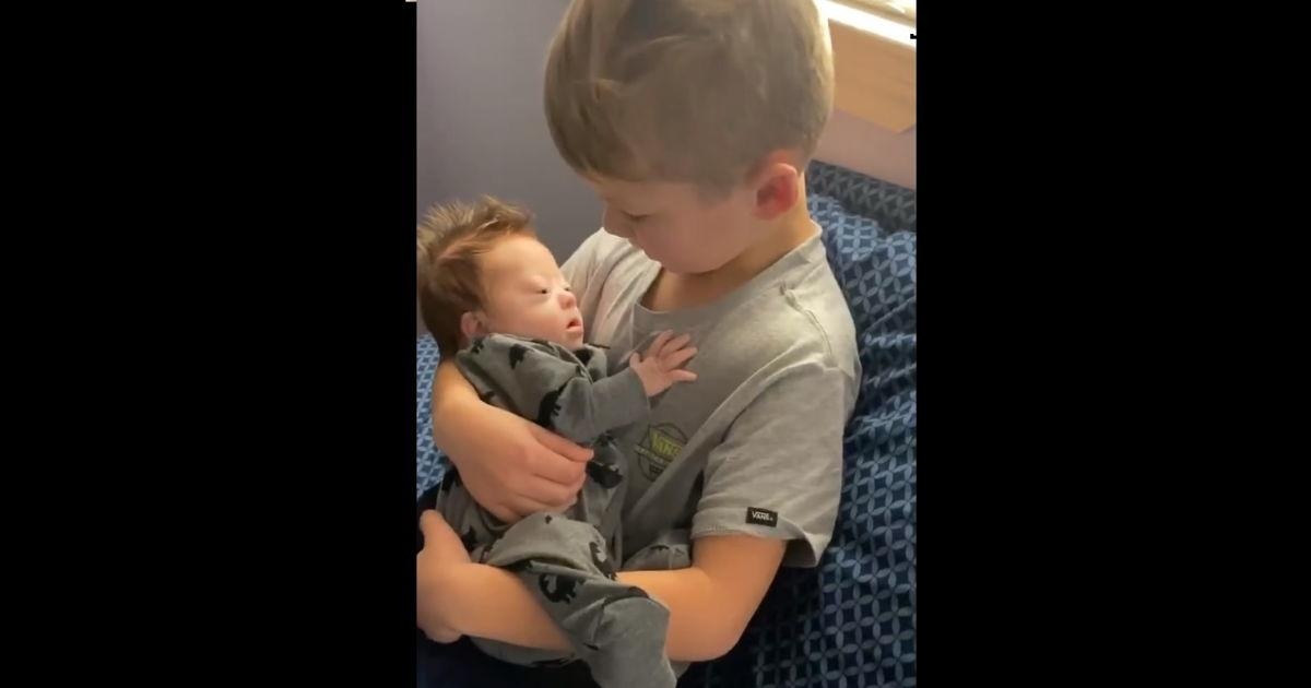 Six-Year-Old Boy Sings '10,000 Hours' To His Baby Brother With Down Syndrome