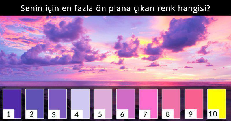 Dünyadaki En Iyi Test Enerjinin Hangi Renk Olduğunu Belirleyecek