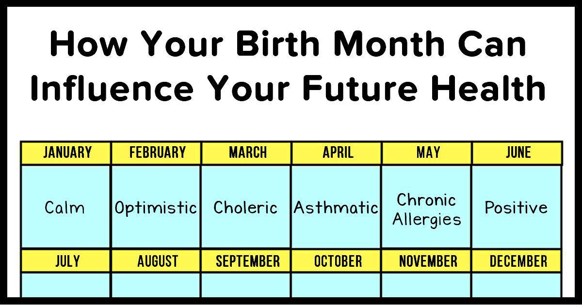 What Your Birth Month Says About Your Health And Personality
