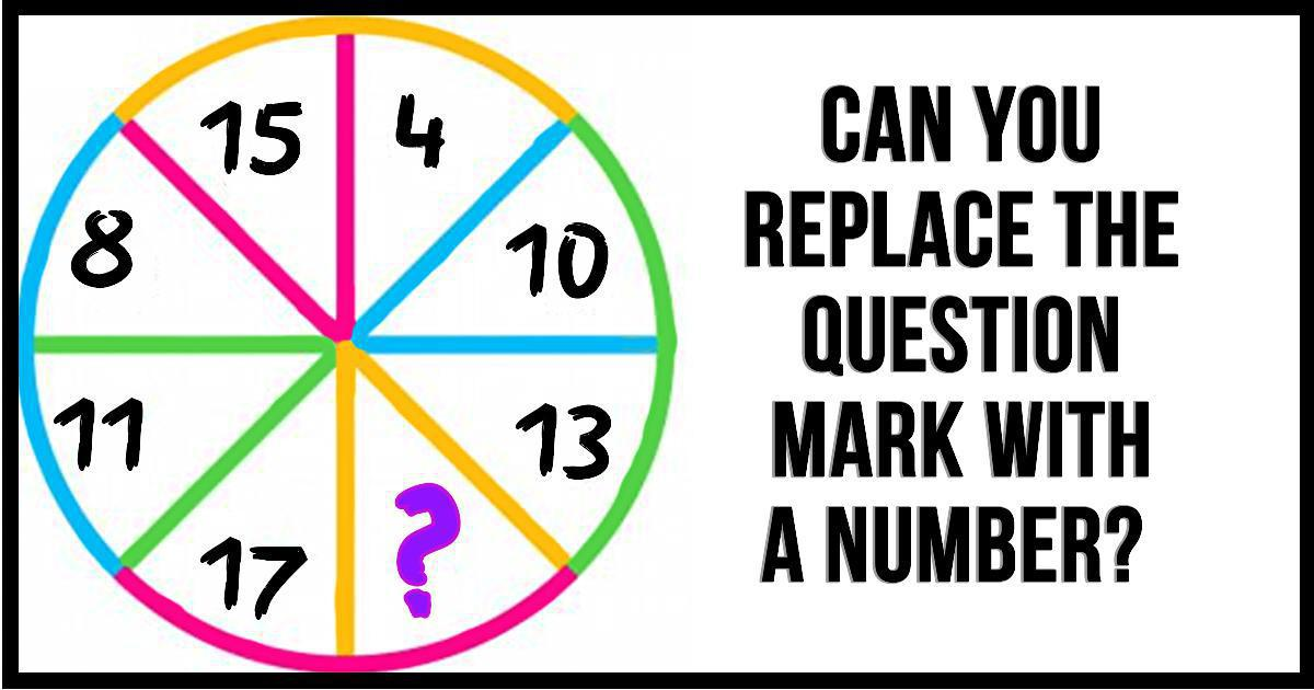 How Working Out Could Replace Your >> Math Puzzle Can You Replace The Question Mark With A Number
