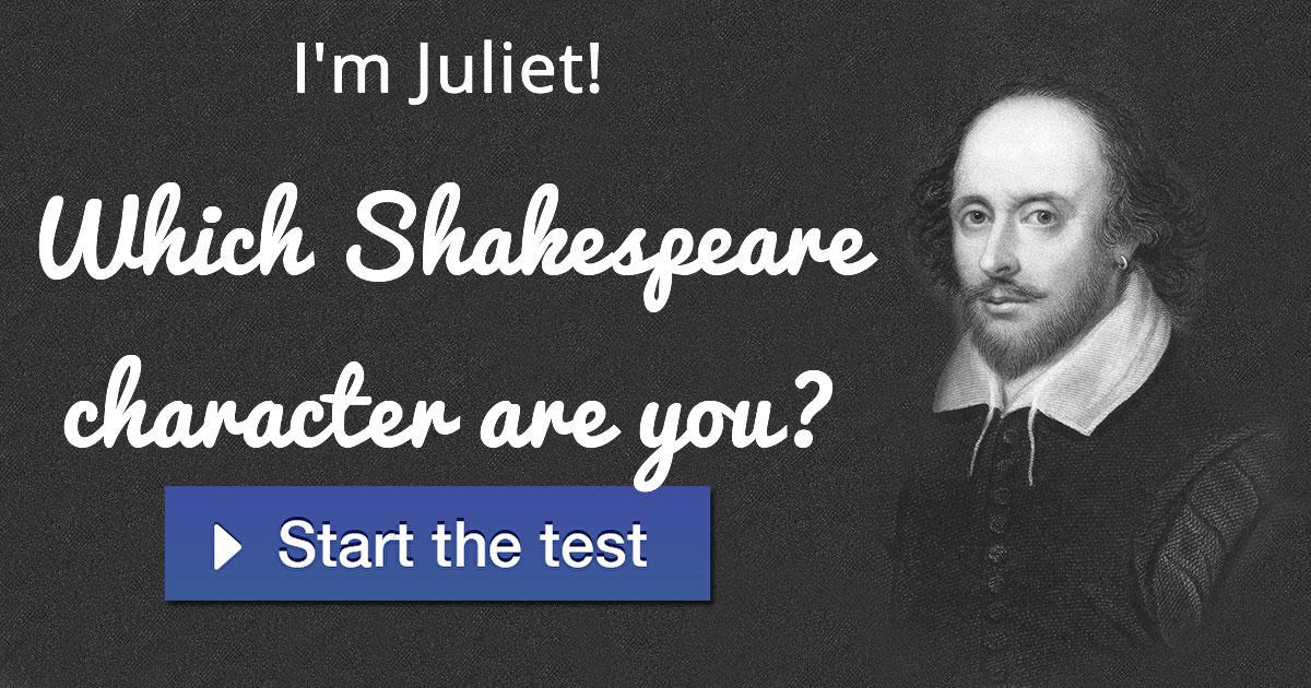 what shakespeare character are you