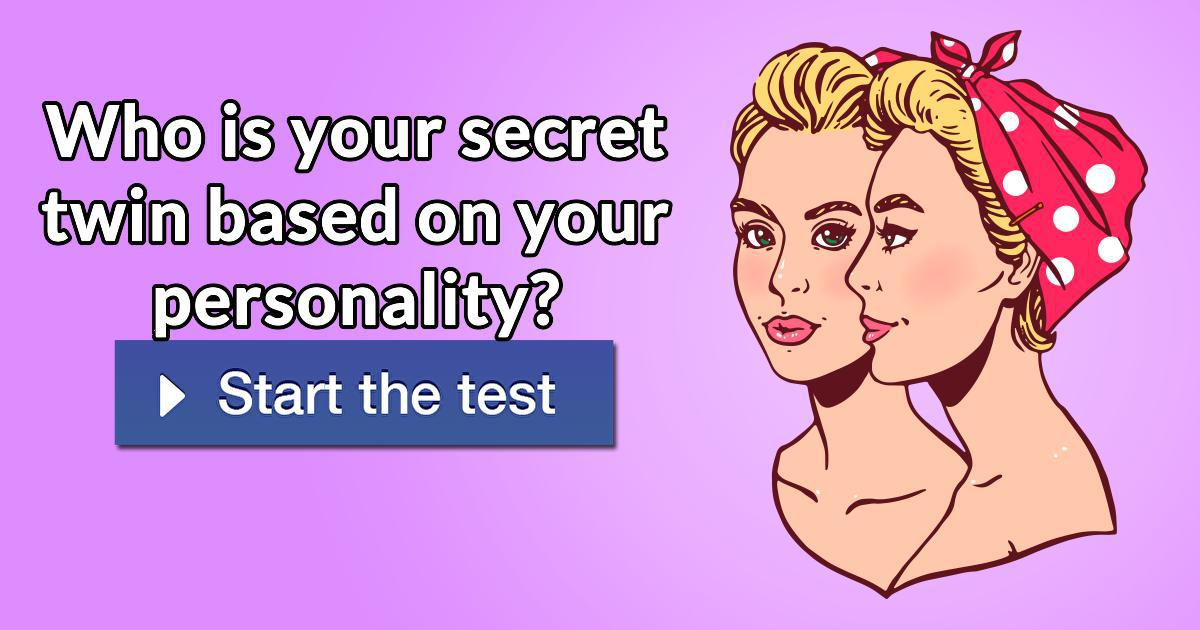 Who is your secret twin based on your personality?