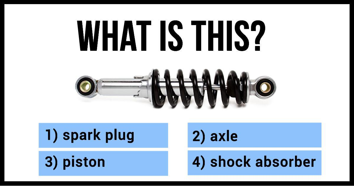 Only 1/50 People Can Pass This Car Parts Quiz